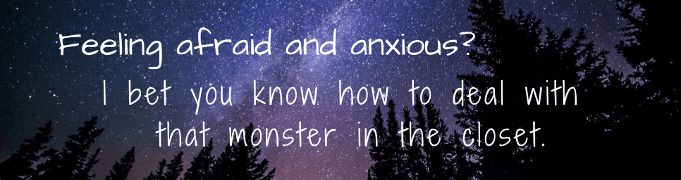 Feeling afraid and anxious. Learn how to connect with your inner strength by caring for the afraid child within you